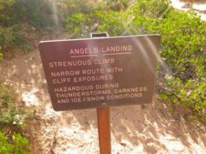 Another reminder about the perils of the hike.