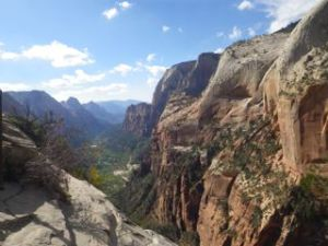 First view from Angel's Landing!