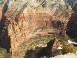 Yup, I just leaned over the edge and took a picture of the canyon. I'm not convinced I am scared of heights! :)