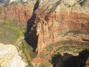 Another view of the canyon below.