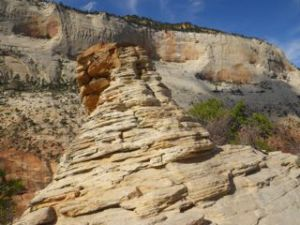 Interesting rock formation on Angel's Landing.
