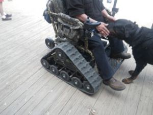 Impressive wheelchair!