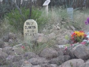 Billy Clanton's grave.