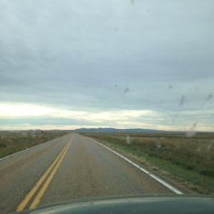 Heading into mountains.
