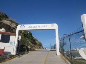 Access to the Faro. Don't let it fool you, pedestrians only!