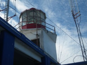 Modern electrical lighthouse with Fresnel lenses.