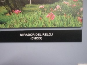 It is called the Mirador del reloj and is in Choix.