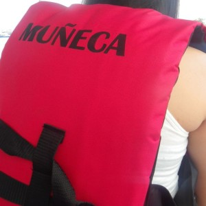 All the pangas now have these brand new life jackets with their names on them.