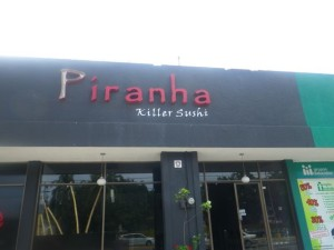 Killer sushi, huh? Might want to rethink the name...