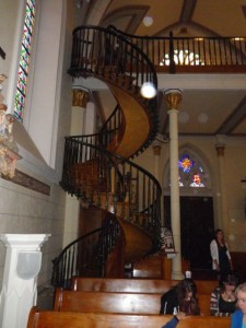 The miraculous staircase. Can you see why?