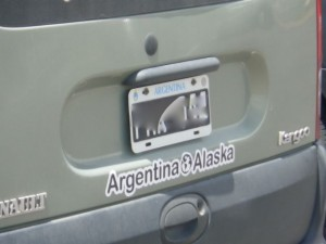 A license plate from *Argentina*!!!