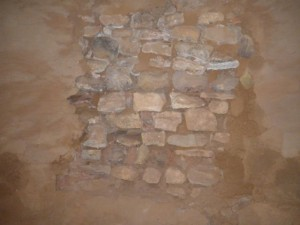 Masonry of the kiva walls.