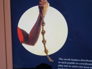 The Pecos leaders gave each pueblo a knotted rope. Each knot represented a day. When there were no more knots, it was time to attack the Spaniards.