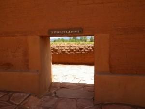 Narrow passageway...