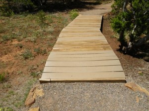 This boardwalk goes over the Santa Fe trail.
