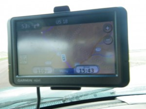 It's a little hard to see in the picture, but you can see on the GPS screen the state lines separating WY, NE, and SD.