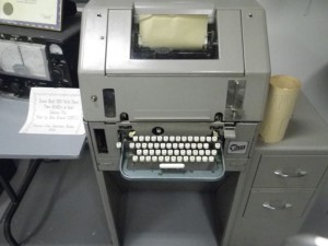 Telex machine (I've always wondered what they look like!).