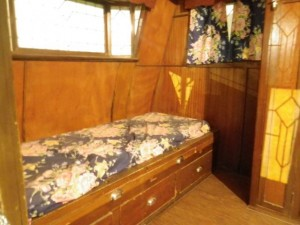 Look at the woodwork! This is the bunk.