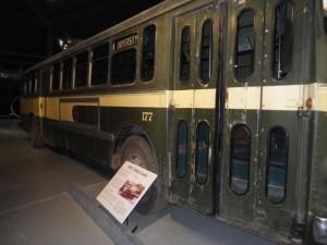 Electric trolley coach.