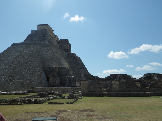 The Mayan ruins at Uxmal.