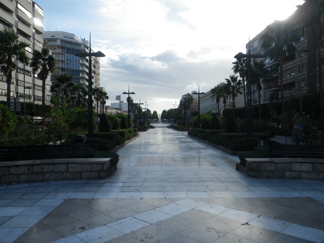 Pedestrian street in downtown Almería
